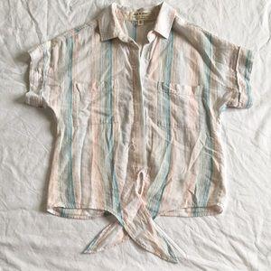 50% Bundles! Cloth&Stone• Linen Cropped Top